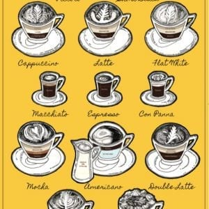 Coffee Lounge Tea Towel