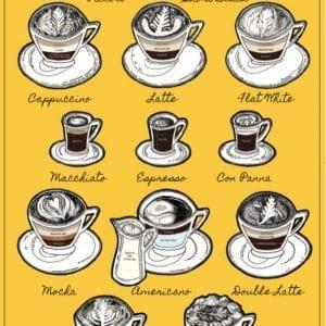 Coffee Lounge Tea Towel