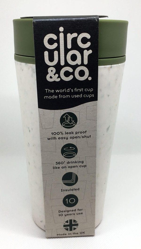 Green 12oz Circular Cup