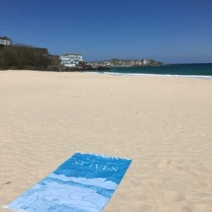 St Ives Cornwall Tea Towel Souvenir