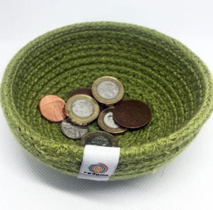 Jute basket coins