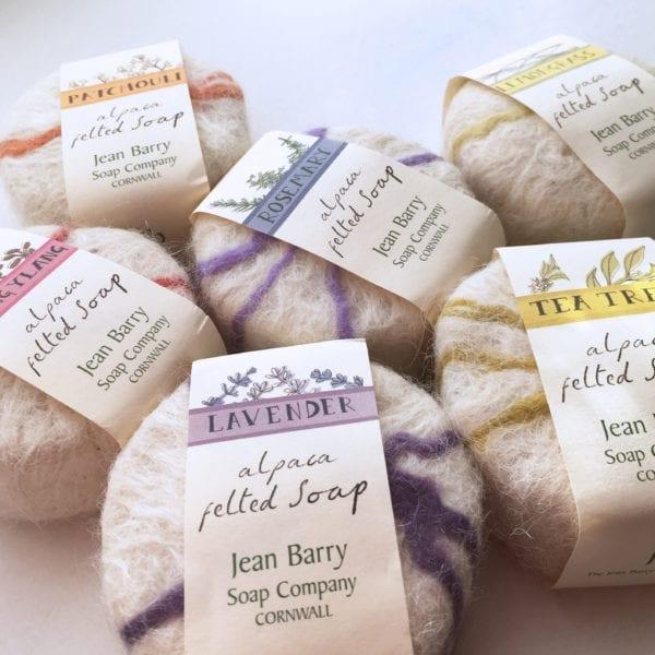 Cornish Alpaca Felted Soaps