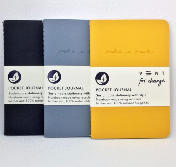 Recycled Leather Pocket Journal