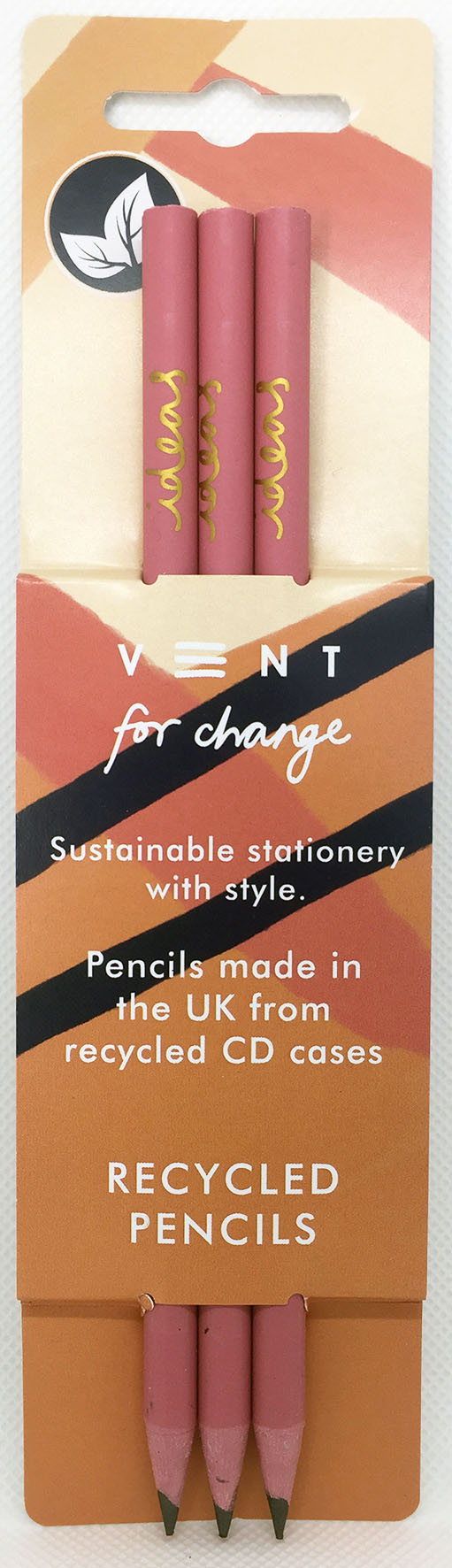 Peach Recycled Pencils