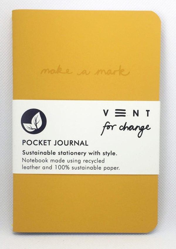 Yellow pocket Journal