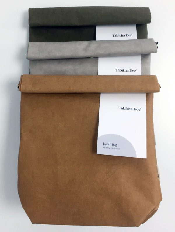 Vleather lunch bags