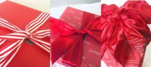 Red Gift box bag